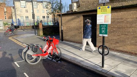New dockless bike bays. Picture: Hackney Council