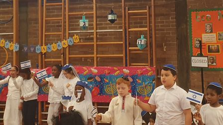 Families, staff and esteemed guests came to watch the annual Chanukah concert. Picture: Holly Chant