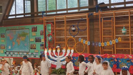 Simon Marks Primary school's Chanukah concert. Picture: Holly Chant