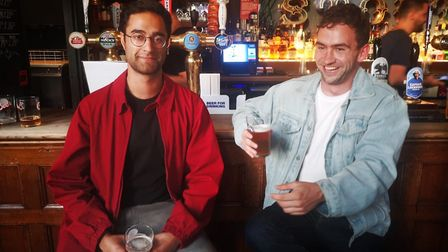 Jai Kapoor (left) and Hugo Murphy from The Local: Pub Finder. Picture: The Local