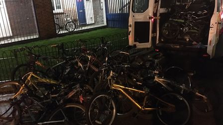 Police seized 27 bikes in the Kings Park ward, E9. Picture: @MPSSpringfield