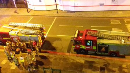 Emergency services in Kenninghall Road.