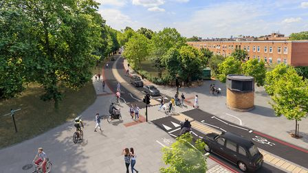An artist's impression of what Rectory Road could look like once two-way traffic is introduced throu