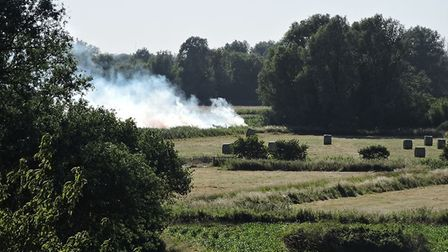 A fire on Gillingham marshes. PHOTO: Jenny Waters