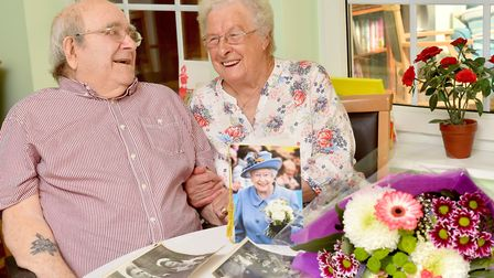 Jack and Betty Heryett celebrate 70 years of marriage.Picture: Nick Butcher