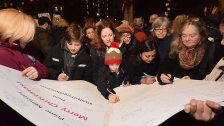 Supporters of Nazanin Zaghari-Ratcliffe and other UK citizens detained abroad signed a card for Prim