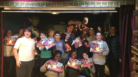 Youngsters celebrate publishing their first book with the Literacy Pirates