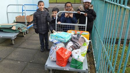 Pupils from the Olive School, Hackney were proud to take part in the scheme and help people in their
