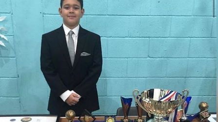 Kayson Constantine, who is part of Olympic Karate Club in Hackney. Picture: Samantha Wonderling