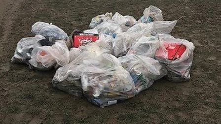 New Year's Eve litter collected on Hampstead Heath. Picture: City of London Corporation