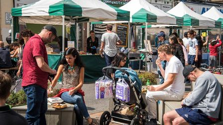 Well Street Market during a future talent takeover for youngsters. Picture: Sean Pollock