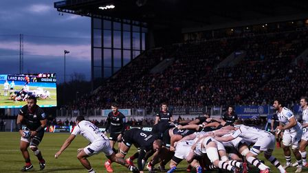A general view of play during the Gallagher Premiership match between Saracens and Worcester at Alli
