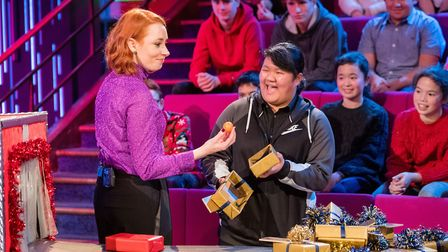 Yilin He in this year�s Royal Institution Christmas Lectures. Picture: Paul Wilkinson