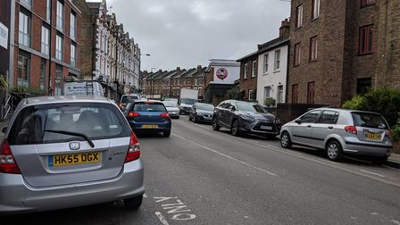 Middle Lane, which was closed to through traffic as part of a Liveable Neighbourhoods trial. Picture
