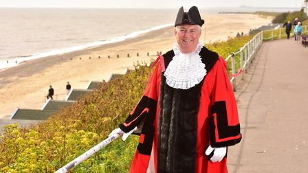 Matthew Horwood during his time as mayor of Southwold. Picture: Nick Butcher.