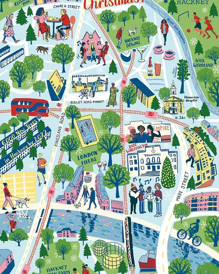 The map of Hackney by Olivia Brotheridge.