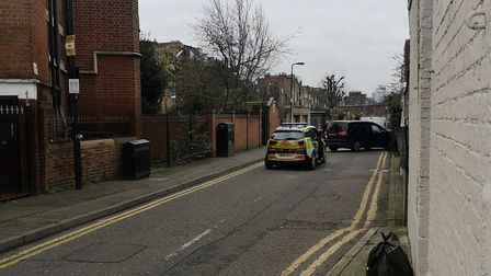 Police in Church Walk after the attempted burglary. Picture: @WeLoveStokey