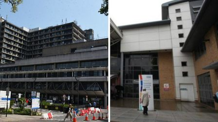 the Royal Free Hospital in Hampstead and Homerton Hospital. Pictures: Ken Mears / Homerton Hospital