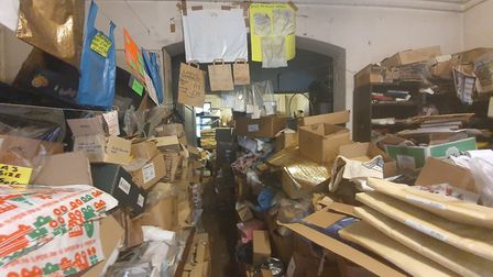 Paul's shop is full to the brim with stock. Picture: Holly Chant