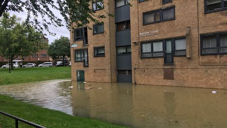Flooding in Queen's Drive. Picture: Lucas Cumiskey