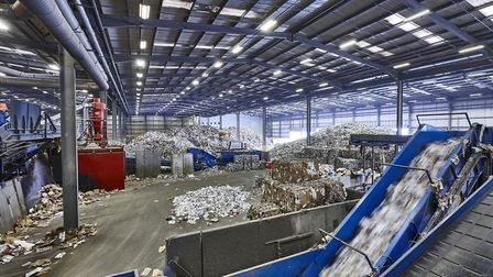 Biffa's material recovery facility (MRF) in Edmonton where recycling is sent to be sorted. Picture: