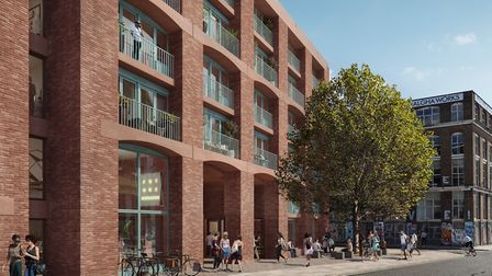 An artist's impression of The Vogue student digs in Hackney Wick. Picture: F10 Studios
