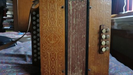 The stolen Hohner melodeon. Picture: James Larcombe