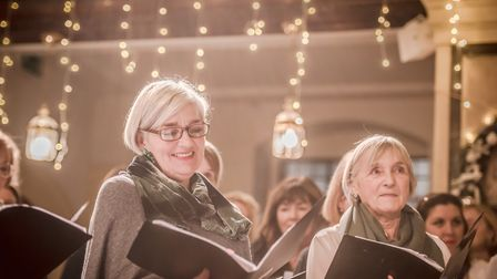 The Victoria Park Singers community choir at their winter concert. Picture: Genevieve Girling