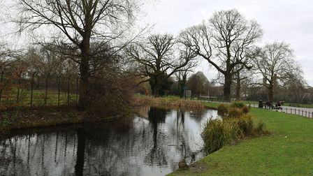 Clissold Park in the winter. Picture: KEN MEARS