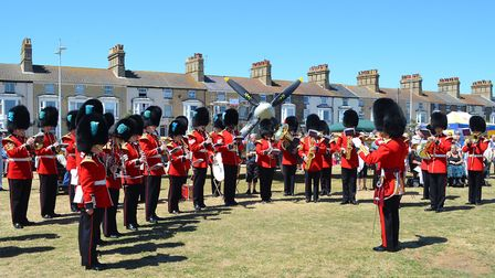 The Band of the Irish Guards perform on Armed Forces Day in Lowestoft. Picture: Mick Howes