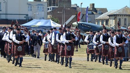 Thousands gathered in Lowestoft to celebrate Armed Forces Day. Picture: Mick Howes