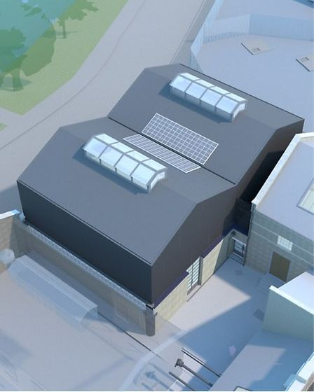 An artist's impression of what the new building Castle Climbing Centre is developing will look like