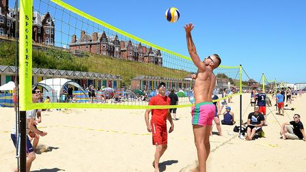 Lowestoft beach once again played host to its annual beach volleyball tourament. Picture: Mick Howes