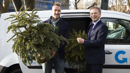 Transport secretary Grant Shapps (right) and Go Ultra Low ambassador Ben Fogle helped launch the Chr