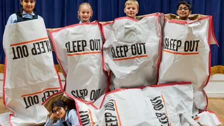 The Devonshire House School sleep-out has raised almost �10,000 for rough sleeping charities. Pictur