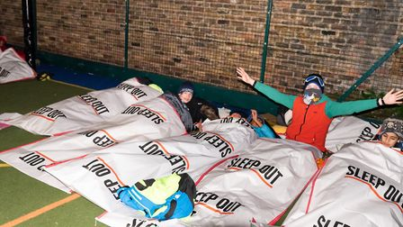 Some pupils even braved the elements and slept outside. Picture: DHS