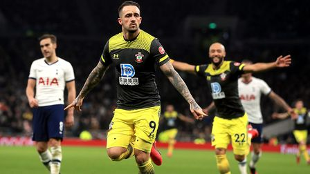 Southampton's Danny Ings celebrates scoring his side's second goal of the game during the FA Cup fou