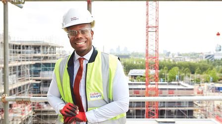 Jone da Cruz on the site he manages. Picture: London Legacy Development Corporation