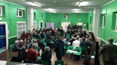 About 100 people packed into the Dan West Hall at a public meeting to find out more about plans for