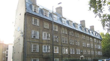 St Leonard's Court in New North Road, was originally built as St Leonard's Dwellings by the then Met