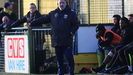 Tom Loizou, manager of Haringey Borough. Picture: George Phillipou/TGS Photo