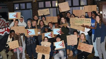 Rough sleeping campaigners at the North London YMCA. Picture: YMCA North London