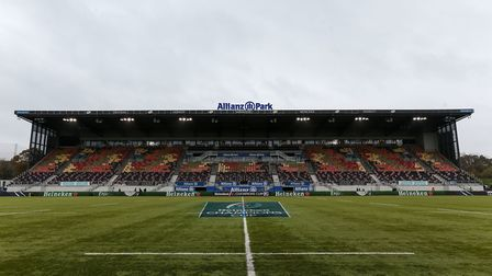 A general view of Allianz Park, home of Saracens