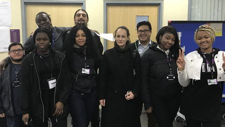 Hackney students at the launch of the Civic Innovation in Community project last month,