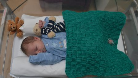 The baby has been named Edward by hospital staff, after the member of public who found him. Picture: