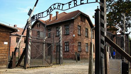 The notorious iron gates to Auschwitz I read 'Arbeit Macht Frei' (Work makes you free). (Picture Cr