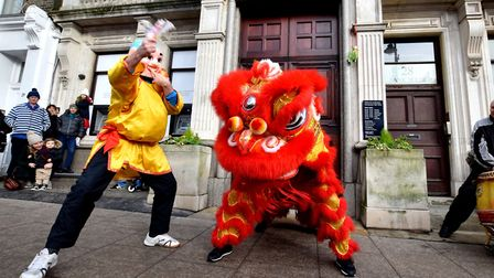 Lion dancing in Hampstead is a Chinese New Year tradition. Picture: Polly Hancock