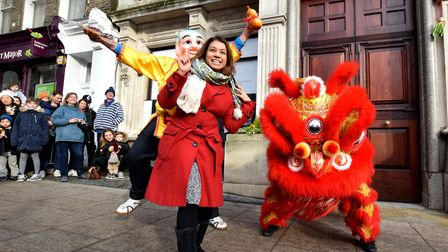 Tulip Siddiq at Hampstead's annual Chinese New Year celebration. Picture: Polly Hancock