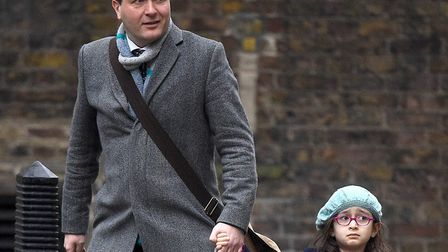 Richard Ratcliffe and daughter Gabriella en route to meet the Prime Minister. Picture: Kirsty O'Conn