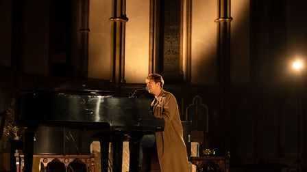 Tom Odell at the Hackney Winter Night Shelter fundraiser in St John at Jerusalem Church. Picture: Ma